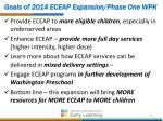 goals of 2014 eceap expansion phase one wpk