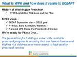 what is wpk and how does it relate to eceap