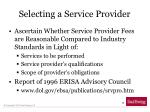 selecting a service provider1