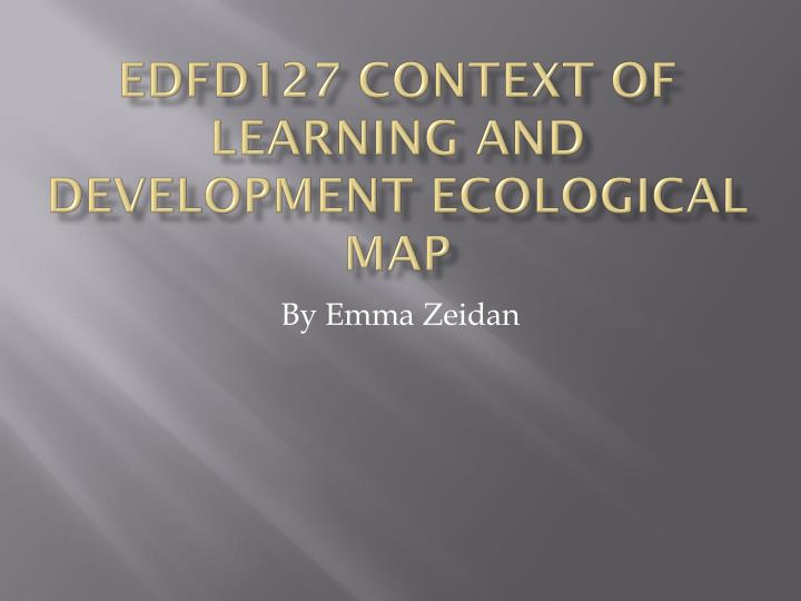 edfd127 context of learning and development ecological map n.