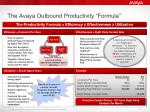 the avaya outbound productivity formula