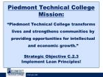 piedmont technical college mission