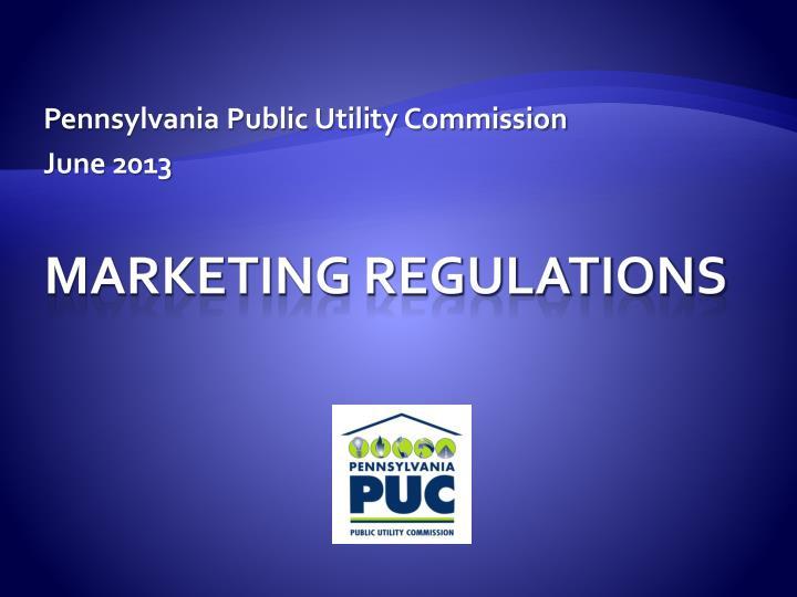Pennsylvania public utility commission june 2013