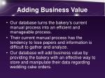 adding business value