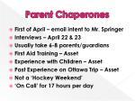 parent chaperones