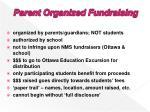 parent organized fundraising
