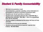 student family accountability