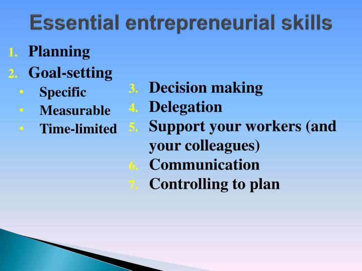 entrepreneurial goals essay Published by experts share your essayscom is the essay on the important characteristic of a he makes a commitment to a long-term entrepreneurial goal which.