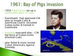 1961 bay of pigs invasion