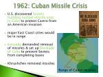 1962 cuban missile crisis
