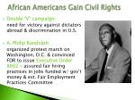 african americans gain civil rights