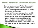 america enters wwi zimmerman telegram