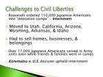 challenges to civil liberties