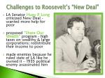 challenges to roosevelt s new deal