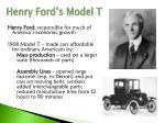 henry ford s model t