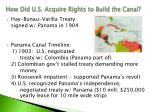 how did u s acquire rights to build the canal