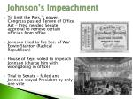 johnson s impeachment