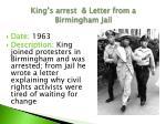 king s arrest letter from a birmingham jail