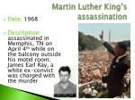 martin luther king s assassination