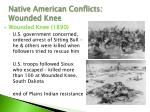 native american conflicts wounded knee