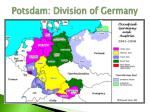 potsdam division of germany