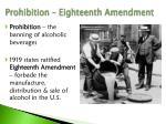 prohibition eighteenth amendment