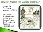 review what is the monroe doctrine