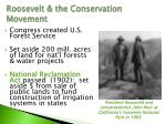 roosevelt the conservation movement