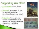 supporting war effort