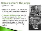 upton sinclair s the jungle