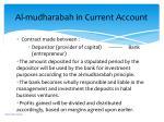 al mudharabah in current account