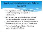 cont characteristics and salient features