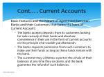cont current accounts