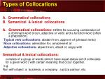 types of collocations