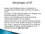 advantages of jit