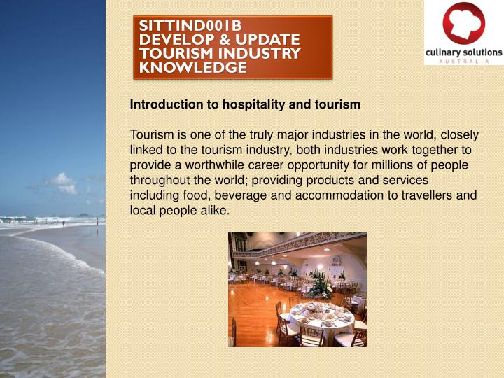 sittind001b develop update tourism industry knowledge