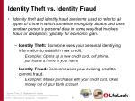 identity theft vs identity fraud