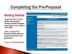 completing the pre proposal2