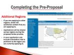 completing the pre proposal4