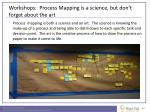 workshops process mapping is a science but don t forget about the art