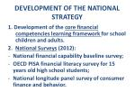 development of the national strategy
