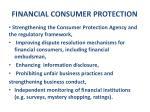 financial consumer protection