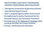 institutional and policy framework strategy monitoring and evaluation