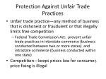 protection against unfair trade practices