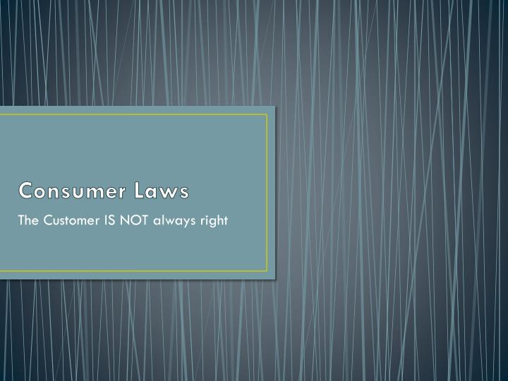 consumer laws n.