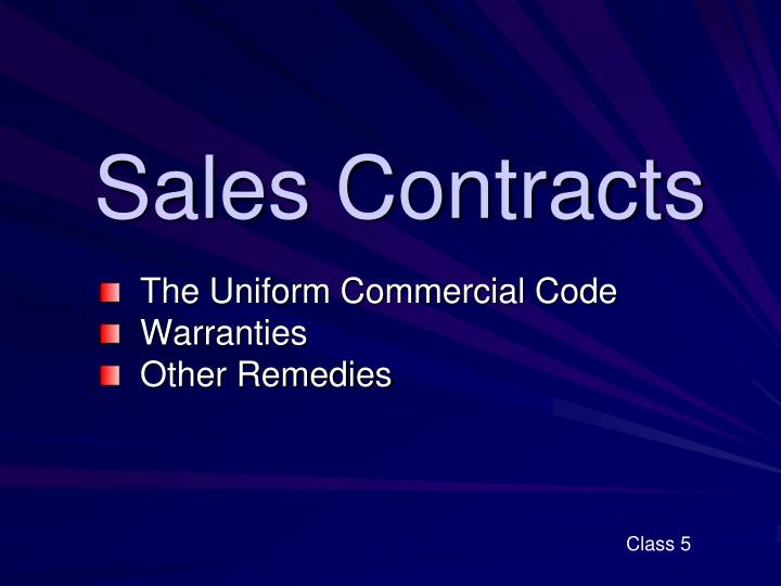 sales contracts n.