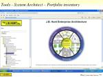 tools system architect portfolio inventory
