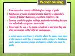 warehousing