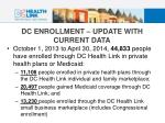 dc enrollment update with current data