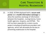care transitions hospital readmission13